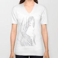 art nouveau V-neck T-shirts featuring Art Nouveau by YriArt
