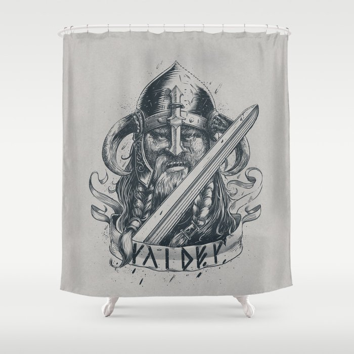 Raider Viking Shower Curtain By Pakowacz