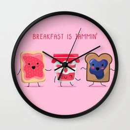 Breakfast Is Jammin' Wall Clock