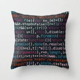 Computer Science Code Throw Pillow