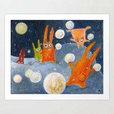 snowballs Art Print
