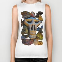 minerals Biker Tanks featuring skull and minerals by giol's