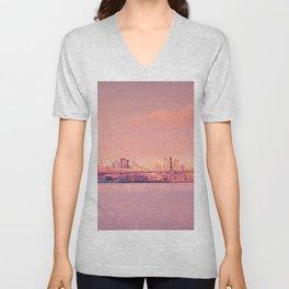 Sunsets Like These - New York City Unisex V-Neck