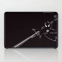 spider man iPad Cases featuring SPIDER MAN by MISTER BLACKWHITE