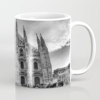 milan Mugs featuring Milan Duomo by Cristina Serrano