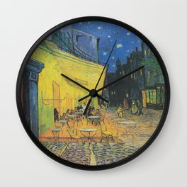 Vincent can Gogh's Cafe Terrace at Night Wall Clock