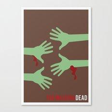 The Walking Dead - Minimalist Canvas Print