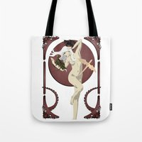 mother of dragons Tote Bags featuring Dragons  by Andrew Formosa