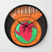 bioshock infinite Wall Clocks featuring Betterman's Autobody - Bioshock Infinite by Jacob Hansen