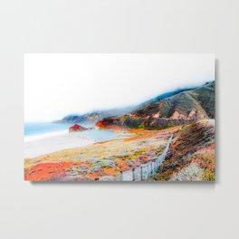 mountain with ocean view at Big Sur, California, USA Metal Print