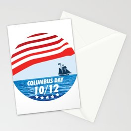 The Expedition to the End of the World - Happy Columbus Day Stationery Cards