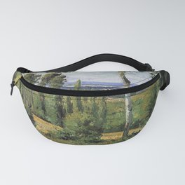 The Countryside In The Vicinity Of Conflans Saint Honorine 1874 By Camille Pissarro   Reproduction   Fanny Pack