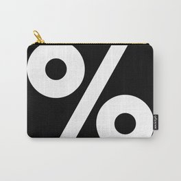 Percent Sign (White & Black) Carry-All Pouch