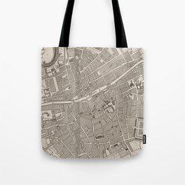 Vintage Map of Dublin Ireland (1764) Tote Bag