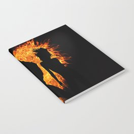 shadow heart love flame girl sexy pose Notebook