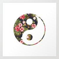 yin yang Art Prints featuring Yin Yang by Hipster