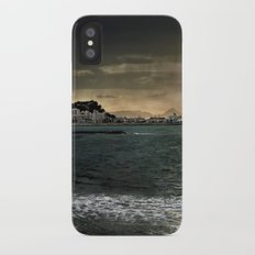 Storm in the sea iPhone X Slim Case