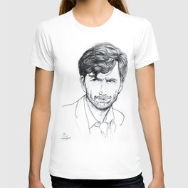 David Tennant as Broadchurch's Alec Hardy (or Gracepoint's Emmett Carver) Etching T-shirt