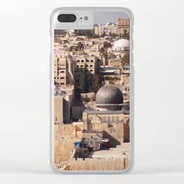 Temple Mount, Old City of Jerusalem Clear iPhone Case