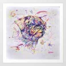 Pug Dog // Pugression Art Print
