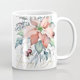 Happy Day – Poinsettia. Flower bouquet Coffee Mug