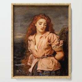 """John Everett Millais """"The Martyr of the Solway"""" Serving Tray"""