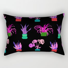 Simple Potted Plants in Black Rectangular Pillow