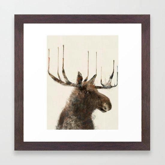 the moose Framed Art Print by bribuckley | Society6