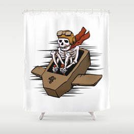 kamikaze  in flying coffin Shower Curtain