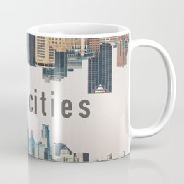 Twin Cities Minneapolis and Saint Paul Minnesota Skylines Coffee Mug