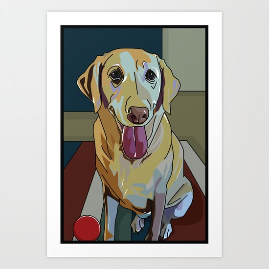 Latte Dog  Art Print