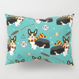 Corgi tricolored witch wizard magic dog breed gifts Pillow Sham