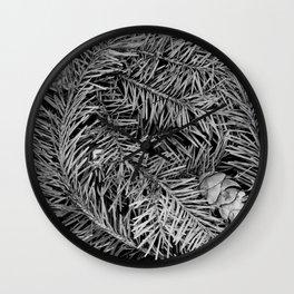 Boxed Organics - Pine Branches Wall Clock