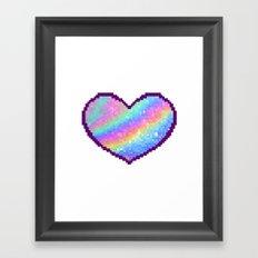 Holographic Heart Framed Art Print