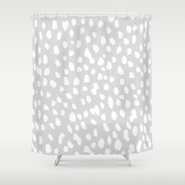 Dalmatian in White and Gray Shower Curtain