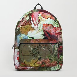 Groovy Floral Abstract Backpack