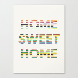 Home sweet home typography Canvas Print