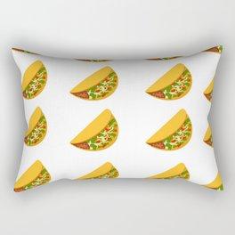 Taco Pattern Rectangular Pillow