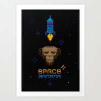 Space Banana Art Print