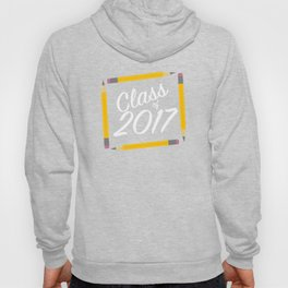 Class of Pencils 2017 White Font Hoody