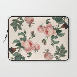 Rose Garden Butterfly Pink Laptop Sleeve