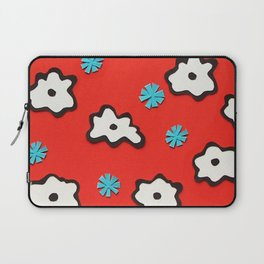 Dutch Flowers on Red Laptop Sleeve
