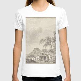 Barend Cornelis Koekkoek - Landschap aan een duinrand met een visser T-shirt