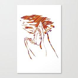 transparent red mako shark Canvas Print