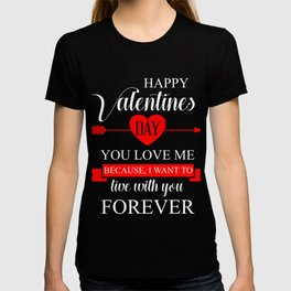 Happy Valentines Forever Cupids Hearts Valentinus Love Romance Gift T-shirt