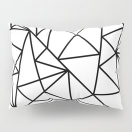 Black white modern abstract geometrical pattern Pillow Sham
