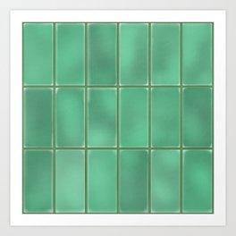 Cyan Tiles Art Print