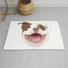 White/Brown Pitbull Rug