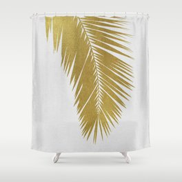 Palm Leaf Gold I Shower Curtain