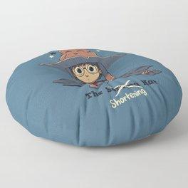 The Shortening Hat // Chibi Wizard, Fantasy, Magic Floor Pillow